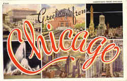 Greetings From Chicagol Postcard
