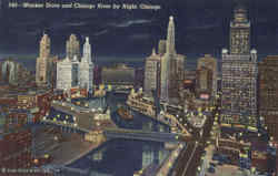 Wacker Drive And Chicago Postcard