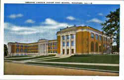 Abraham Lincoln Junior High School Postcard