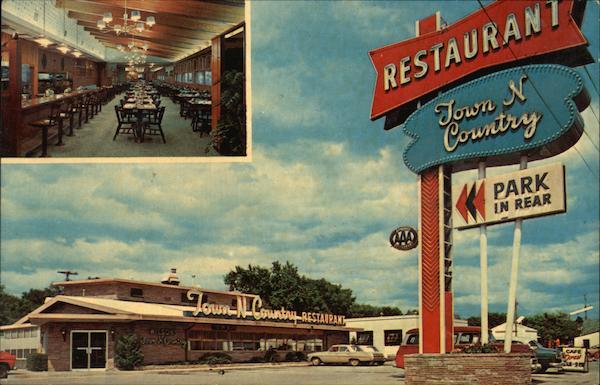 Town N Country Restaurant Sioux Falls Sd Postcard