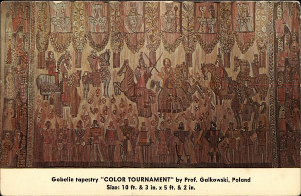Gabelin Tapestry Color Tournament by Prof. Galkowski, Poland New York