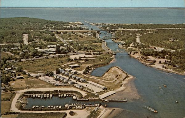 Aerial View, Historic Shinnecock Canal Hampton Bays New York