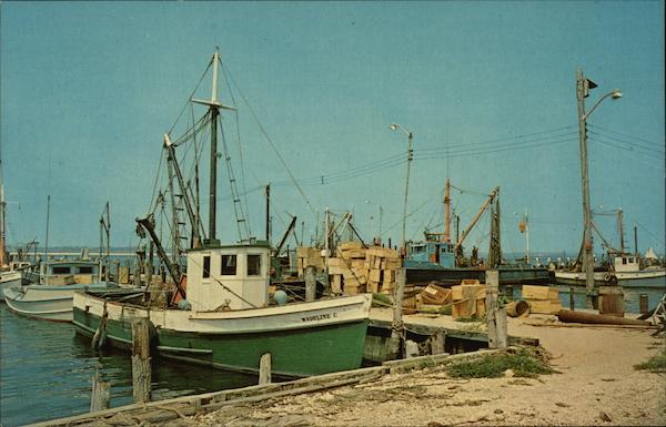 Fishing boats shinnecock bay hampton bays ny postcard for Fishing boats ny