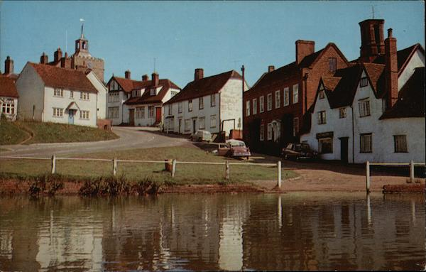Finchingfield Viewed From The Pond United Kingdom