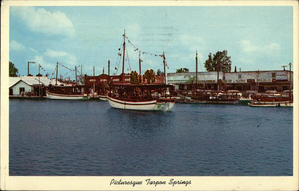 Picturesque Tarpon Springs Florida Boats, Ships