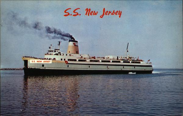 S.S. New Jersey Cape May Steamers