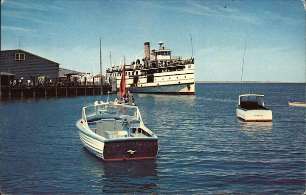 Steamer nantucket at the wharf on the island of the sea for Nantucket by the sea