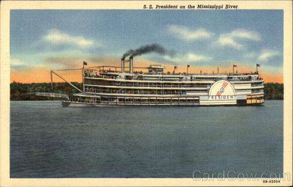 S.S. President on the Mississippi River Steamers