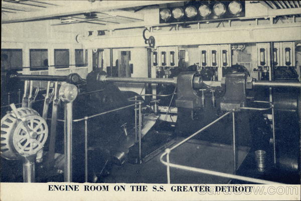 Engine Room on the SS Greater Detroit Interiors