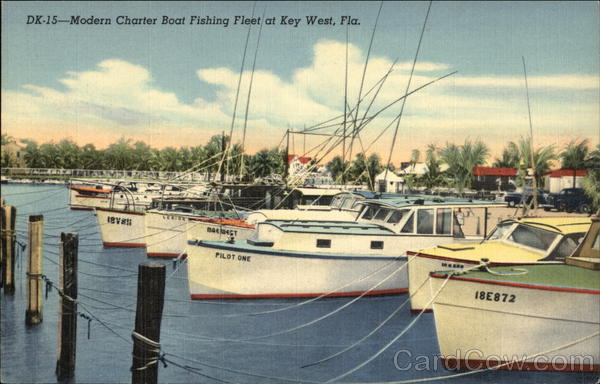 Modern Charter Boat Fishing Fleet Key West Florida