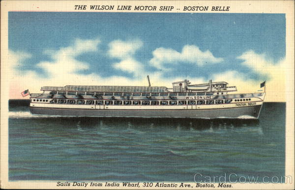 The Wilson Line Motor Ship - Boston Belle Boats, Ships
