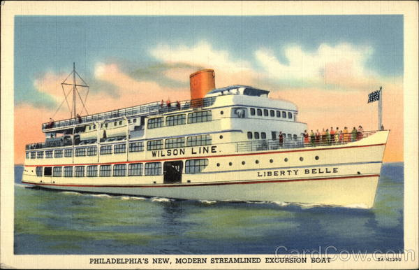 Philadelphia's New, Modern Streamlined Excursion Boat Pennsylvania