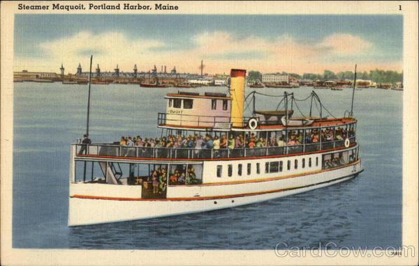 Steamer Maquoit on the Water Portland Harbor Maine