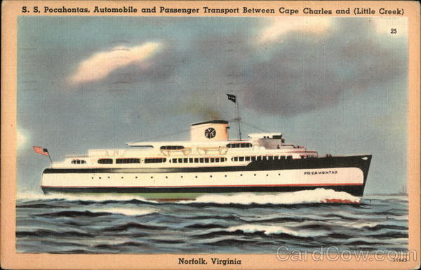 SS Pocahontas Norfolk Virginia Steamers