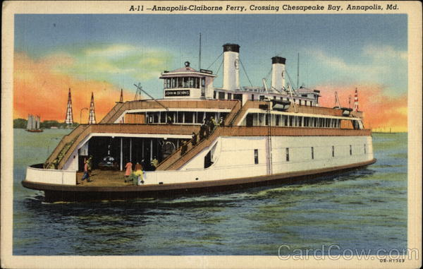Annapolis-Claiborne Ferry Maryland Ferries