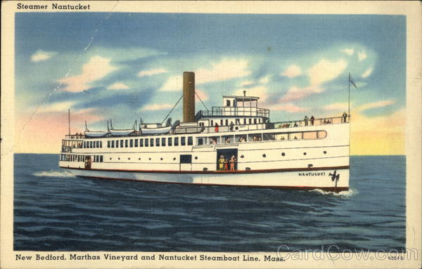 Steamer Nantucket New Bedford Massachusetts Boats, Ships