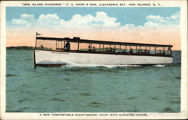New Island Wanderer, C.A. Ward & Son, Alexandria Bay Thousand Islands New York