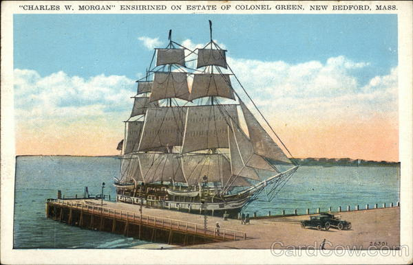Charles W Morgan Enshrined on Estate of Colonel Green New Bedford Massachusetts