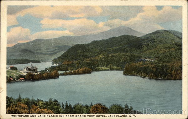 Whiteface and Lake Placid Inn from Grand View Hotel New York