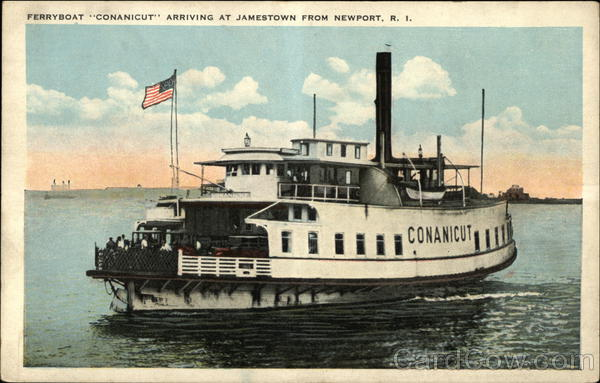 Ferryboat Conanicut Arriving at Jamestown from Newport Rhode Island
