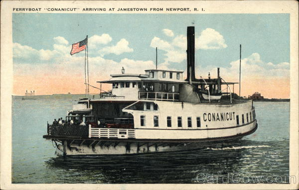Ferryboat Conanicut Arriving from Newport Jamestown Rhode Island