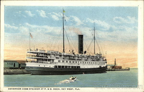 Governor Cobb Steamer at P. & O. Dock Key West Florida