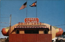 "Coney Island Dairy Land - Stop and see the Largest ""Hot Dog"" in the West"