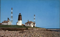 Point Judith Lighthouse - Has a 2400 candlepower light - Visible 17 miles - Rebuilt 1857 Postcard