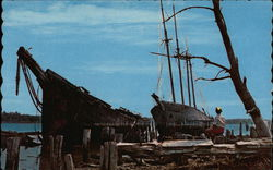 "Rusting Schooners ""Hesper"" and Luther Little"" - Sheepscot River"