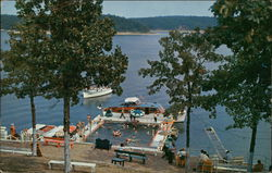 Floating Swimming Pool, Grand Glaize, Lake of the Ozarks Postcard