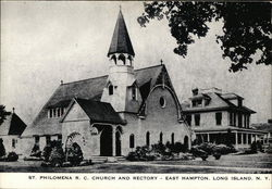 St Philomena RC Church and Rectory on Long Island