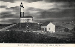 Light House at Night - Montauk Point