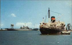 Tanker and Steamer on the Water