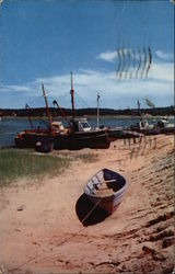 Fishing Boats at the Town Docks Postcard