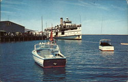 Steamer Nantucket at the Wharf - On the Island of the Sea