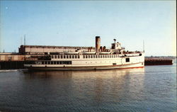 SS Martha's Vineyard providing daily service to the Island and Docking at Cuttyhunk