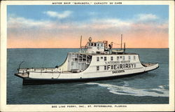 "Motor Ship ""Sarasota,"" Capacity 20 Cars"