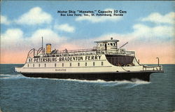 "Motor Ship ""Manatee,"" Bee Line Ferry"