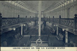 Grand Saloon on the SS Eastern States