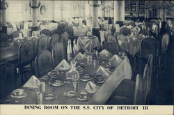 S. S. City of Detroit III - Dining Room