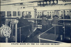 Engine Room on the SS Greater Detroit