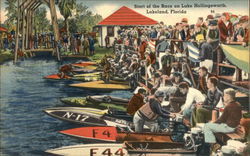 Start of the Race on Lake Hollingsworth