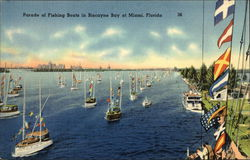 Parade of Fishing Boats in Biscayne Bay