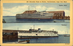 "Excursion Boats in Harbor - ""Boston Belle"" and ""Holiday"""