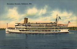 Excursion Steamer on the Water