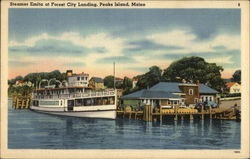 Steamer Emita at Forest City Landing Postcard