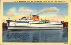 "SS ""Pocahontas"" Ferry Boat between Cape Charles and Little Creek"