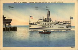C&O Steamer Virginia Betweet Norfolk and Newport News