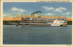 SS President on the Mississippi River