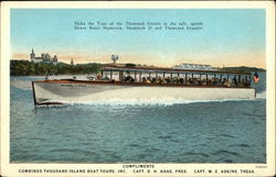 Island Boat Tours Postcard